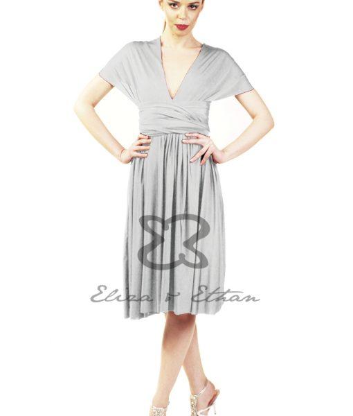 Eliza & Ethan Platinum Short Multiwrap Dress Alila