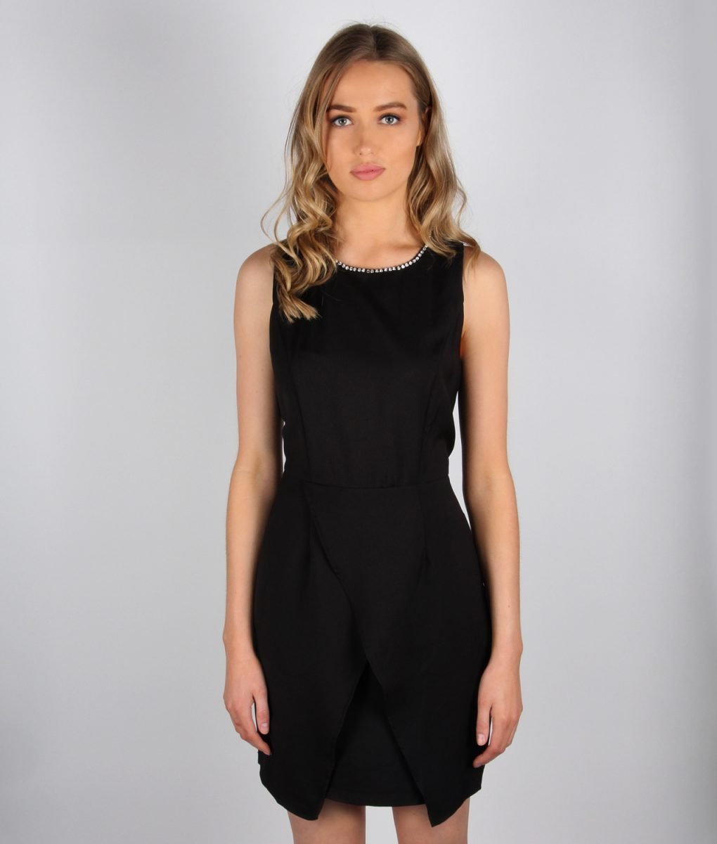 Alila black tailored wrap dress