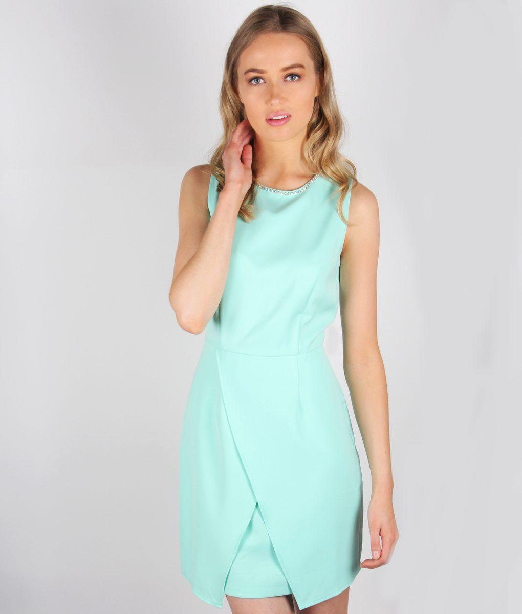 Alila mint tailored wrap dress