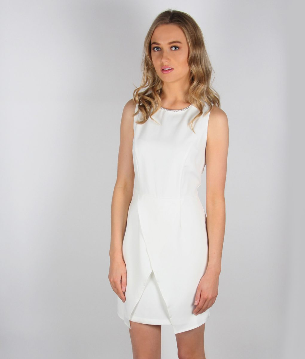 Alila white tailored wrap dress.