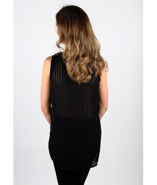 Alila Black Chiffon long back topback