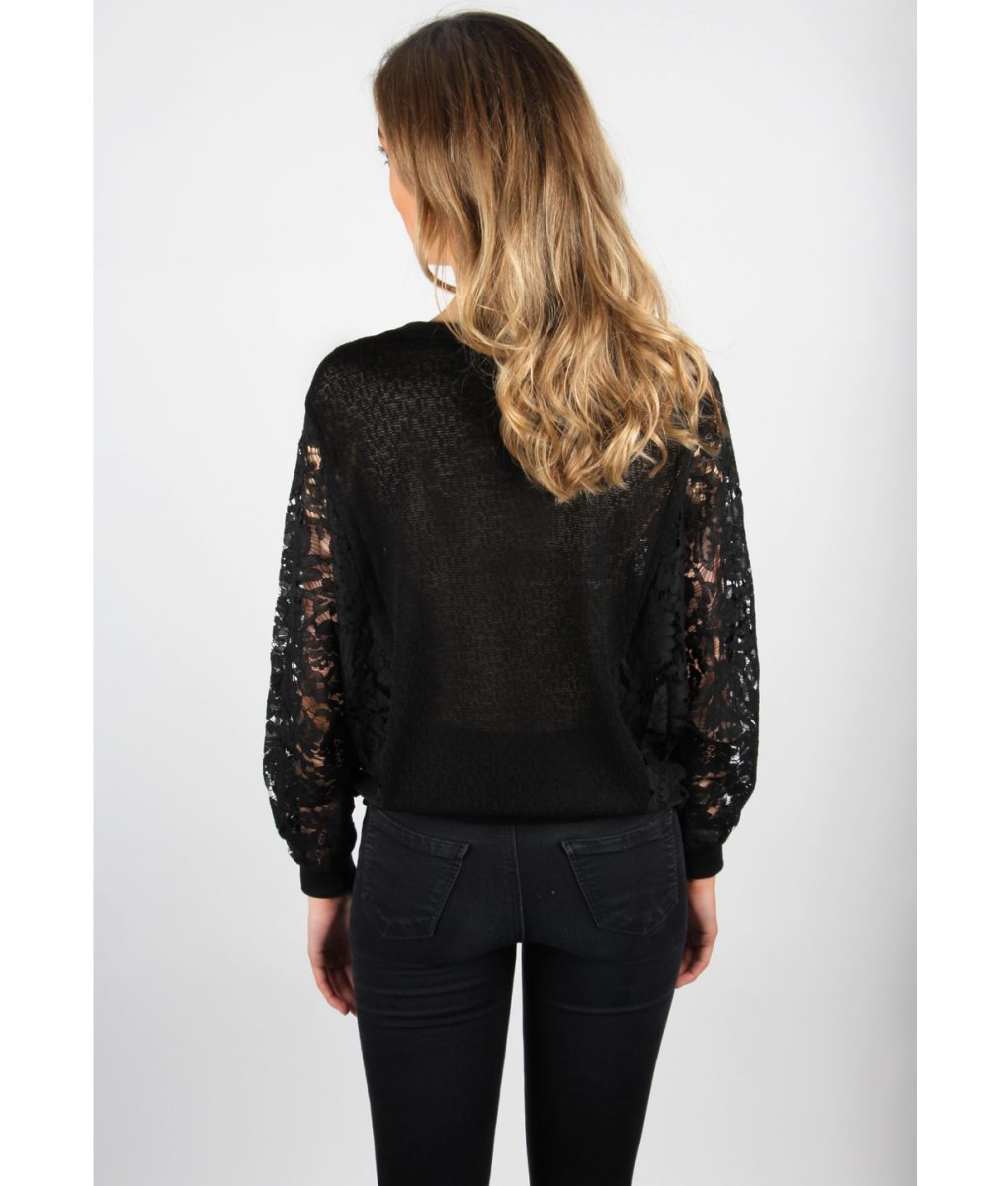 Alila Black Lace jumper back