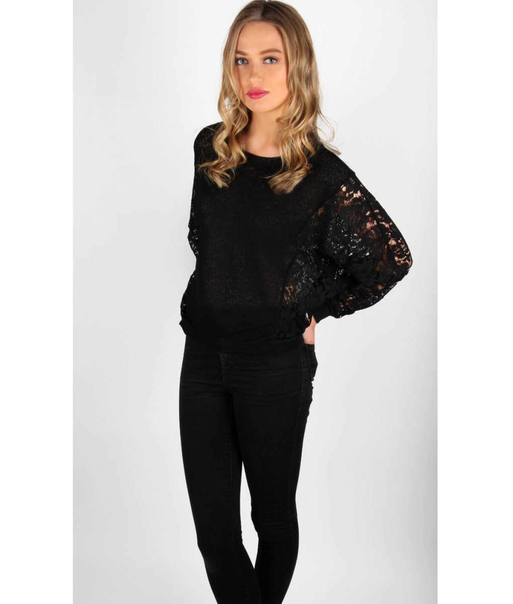 Alila Black Lace jumper front