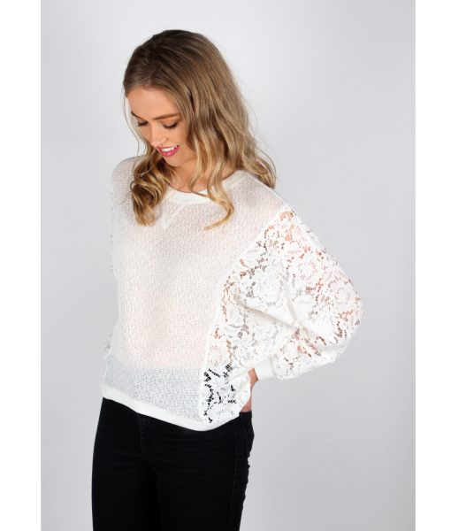 Alila White Lace sleeve jumper