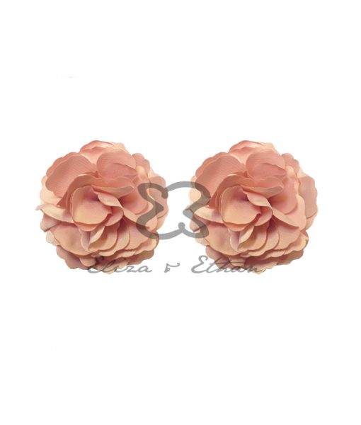 Eliza & Ethan Dusty Peach Flower Clips Alila