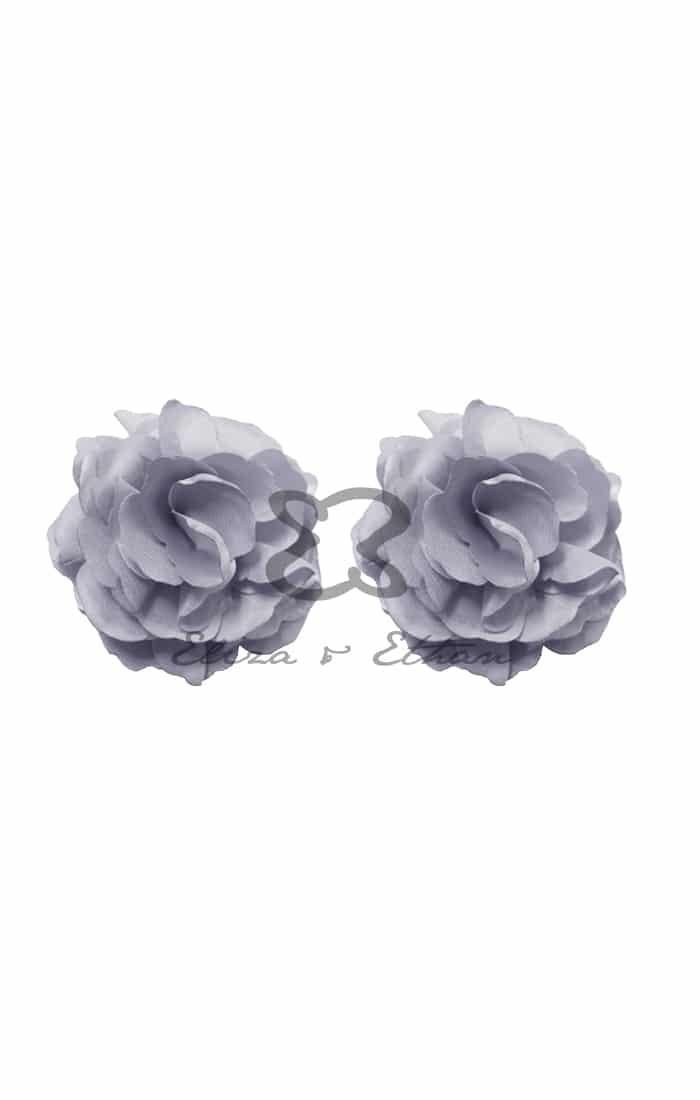 Eliza & Ethan Plaitinum Flower Clips Alila