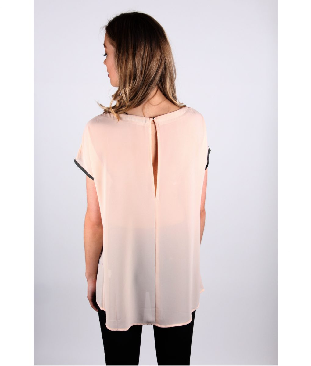 French Alila Peachy pattern top back