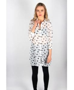 French Alila Star Shirt Dress Front