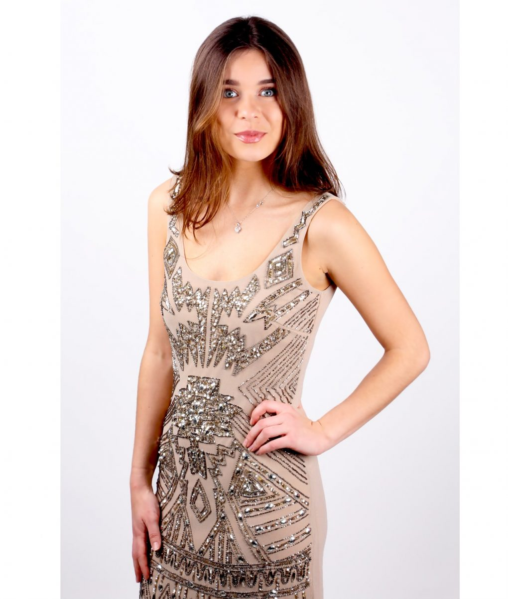 Alila Aztec Sequin Dress by Lace & Beads.