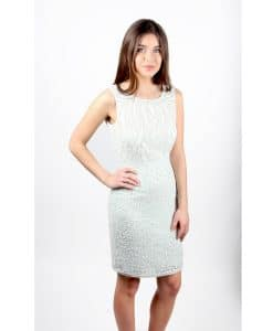 Lace and Beads Mint Dress front