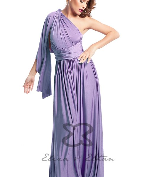 Eliza & Ethan Lavender Multiwrap Dress Alila