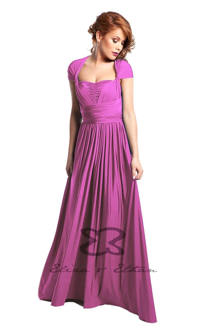 Raspberry fronEliza & Ethan Raspberry Multiwrap Dress Alilat