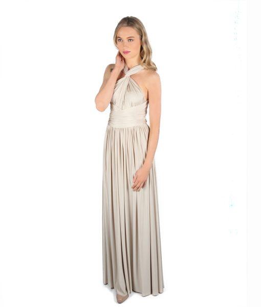 Eliza & Ethan Taupe Multiway Dress Alila