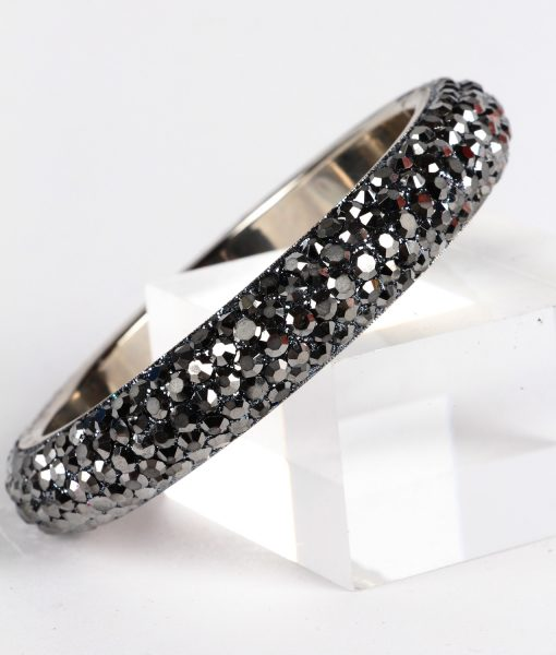 grey crystal bangle