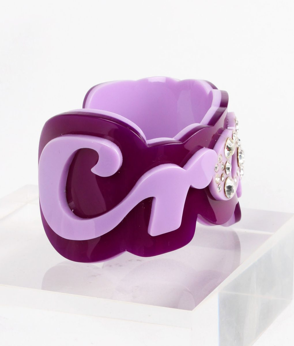 Funky Bling Crazy Purple Bangle