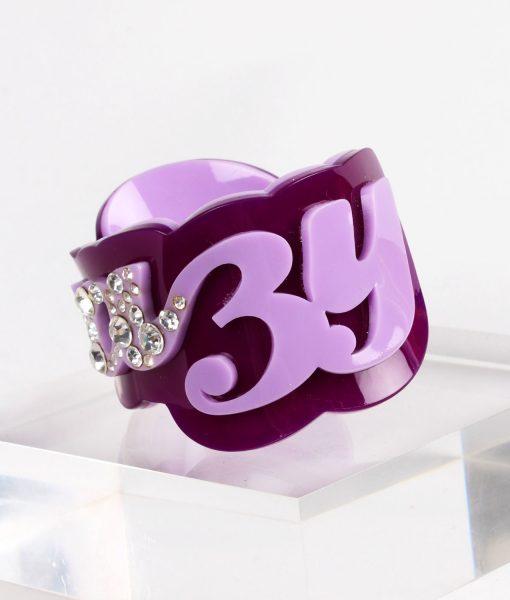 Funky Bling Crazy Purple Bangle