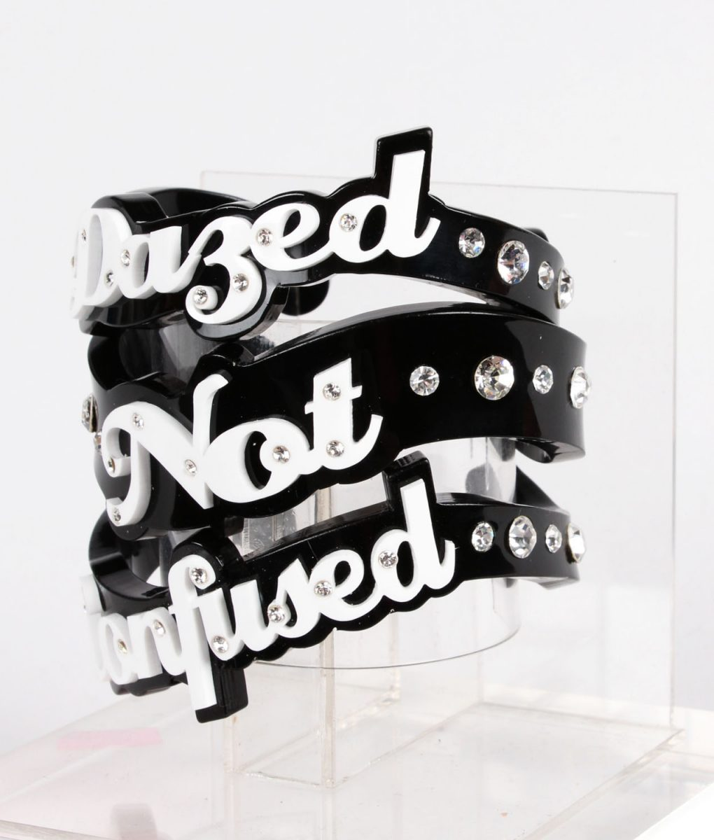 Funky Bling Dazed Not Confused Bangle