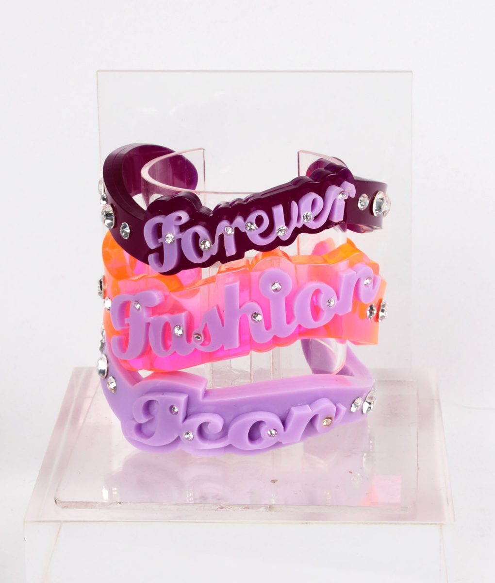 Funky Bling Forever Fashion Icon Bangle