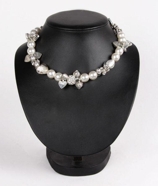 Alila Otazu Pearl & Hearts Necklace