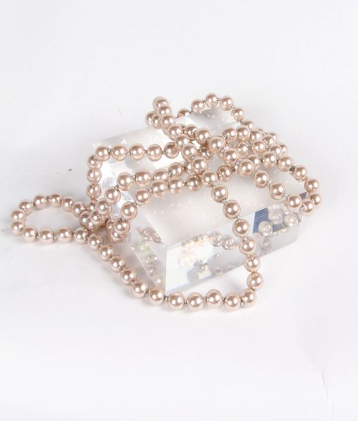 AlilaLong Chain of Genuine Peach Pearls Necklace