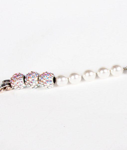 Otazu pearl and AB Swarovski long necklace