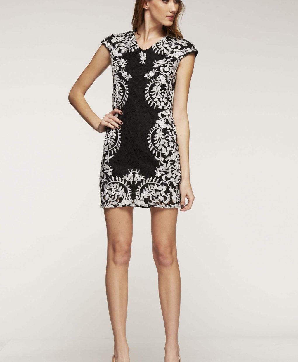 Alila Boutique Black Lace Dress