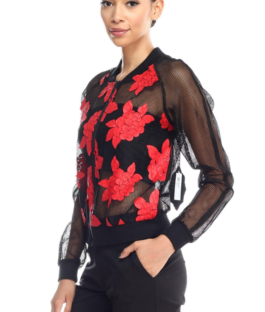 Alila Boutique Mesh bomber jacket