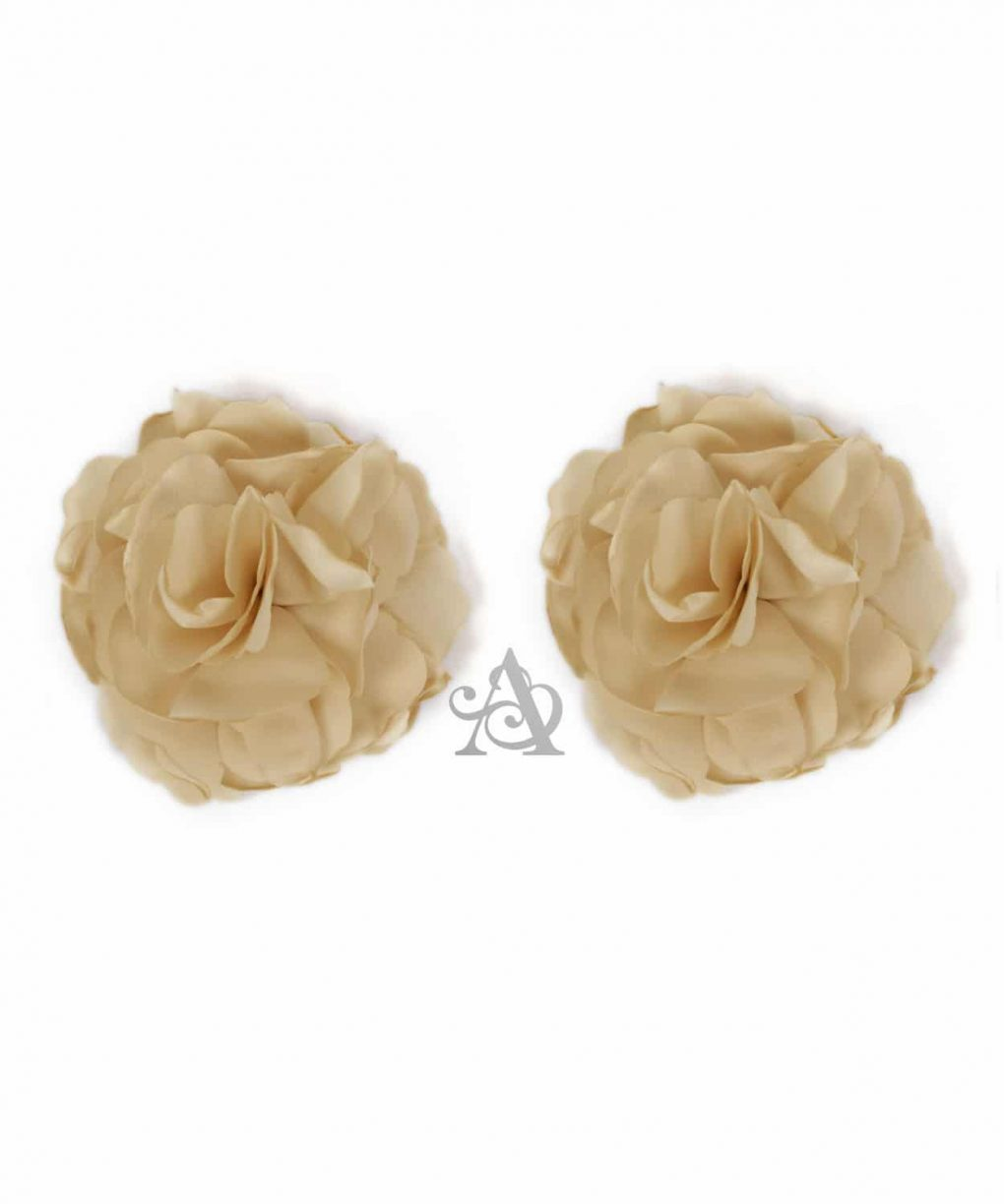 Eliza & Ethan Taupe Flower Clip Alila