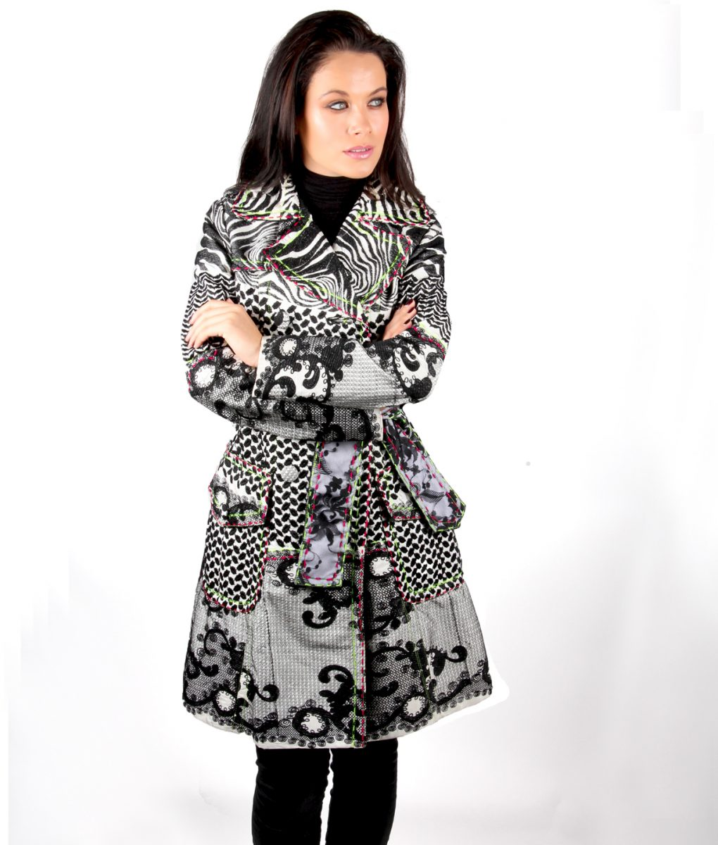 Black Lace and embroidered trench coat OTT Alila 4