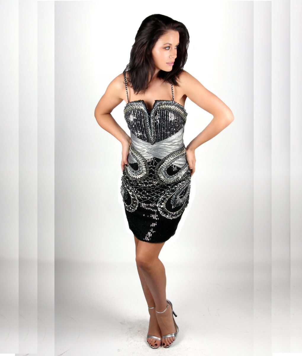 Black and silver sequin embellished dress by Musani – Shakira dress – Alila 2