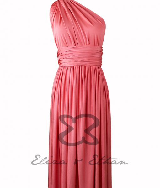 Eliza & Ethan Coral Multiwrap Short Dress Alila