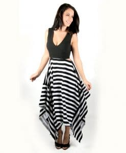 Striped maxi v-neck dress with cutout sides - Alila 1