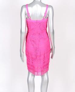 Adelyn Rae Fuchsia Crochet Fitted Dress