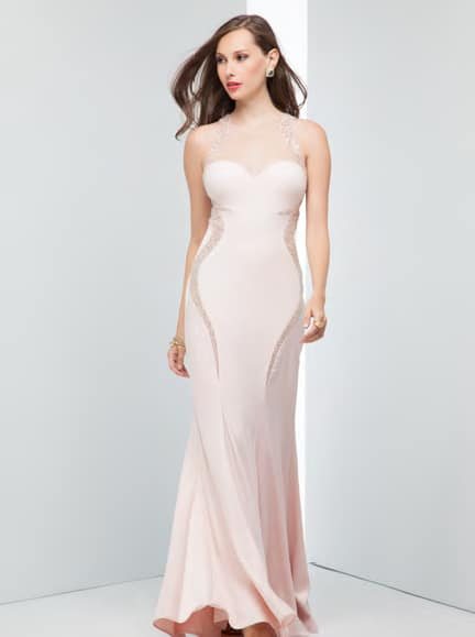 Alila Boutique Pink Satin Gown by Mignon