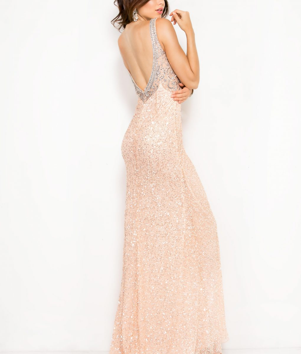 Alila Boutique Blush Sequin Gown by Scala
