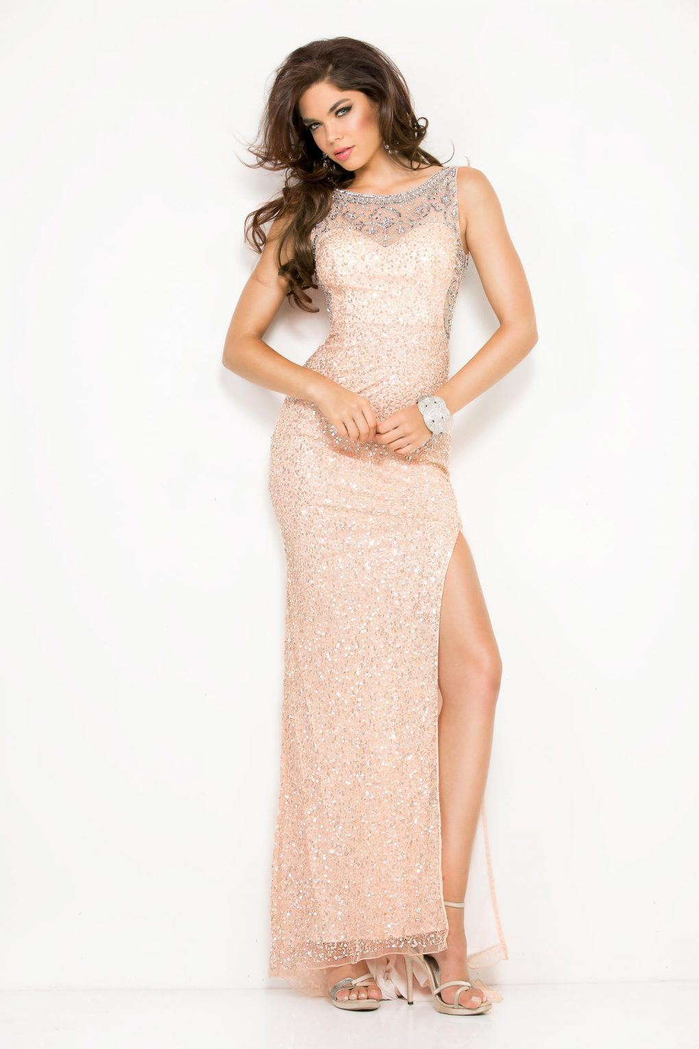 Alila Boutique Blush Sequin Gown by Scala.