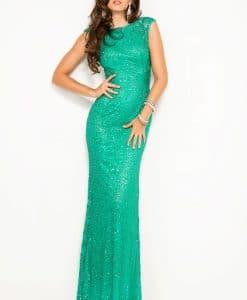 Scala Jade Green Sequin Dress