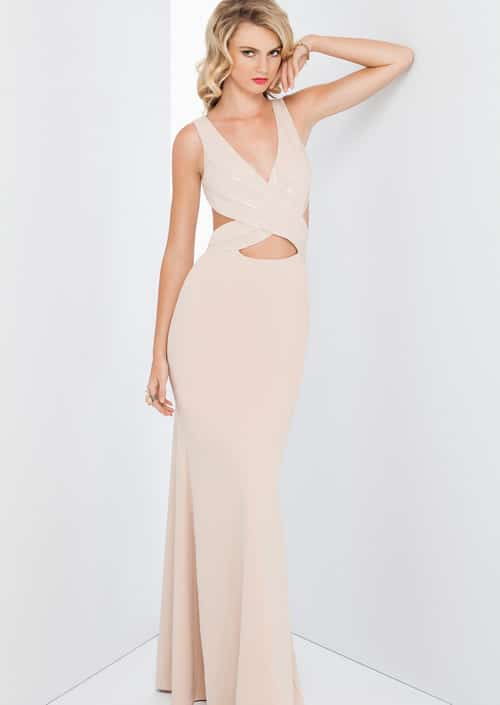 Alila Boutique Nude Sequin Gown by Mignon