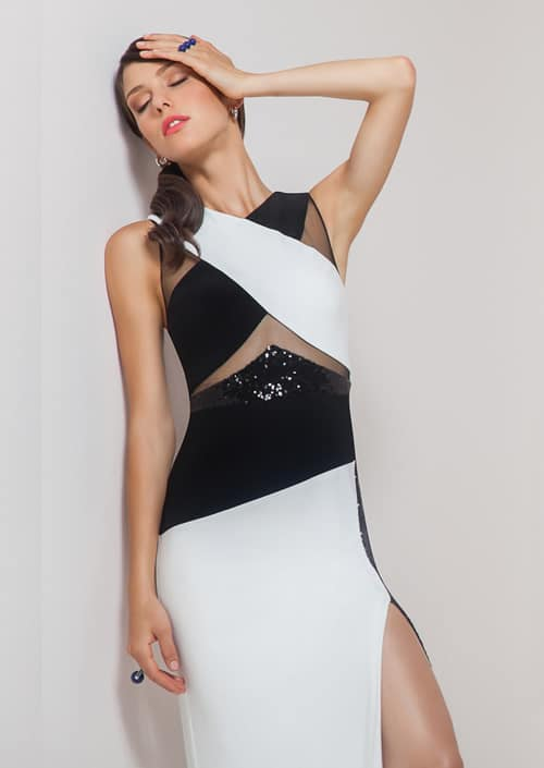 Alila Boutique Black & White Gown by Mignon.