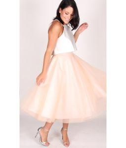 Jones and Jones Blush Ballerina Skirt and Ivory top