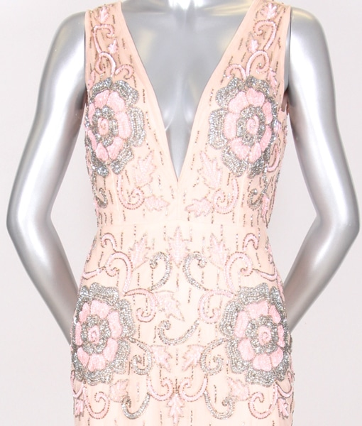 Alila Blush Pink Sequin Gown by Lace & Beads.
