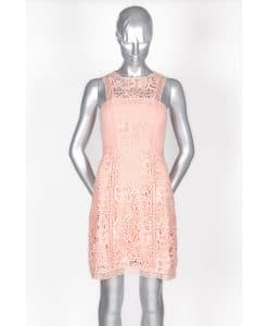 Lumier By Bariano Peach Lace Dress