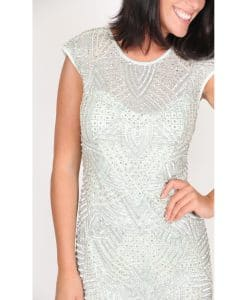Lace and Beads Mint beaded dress