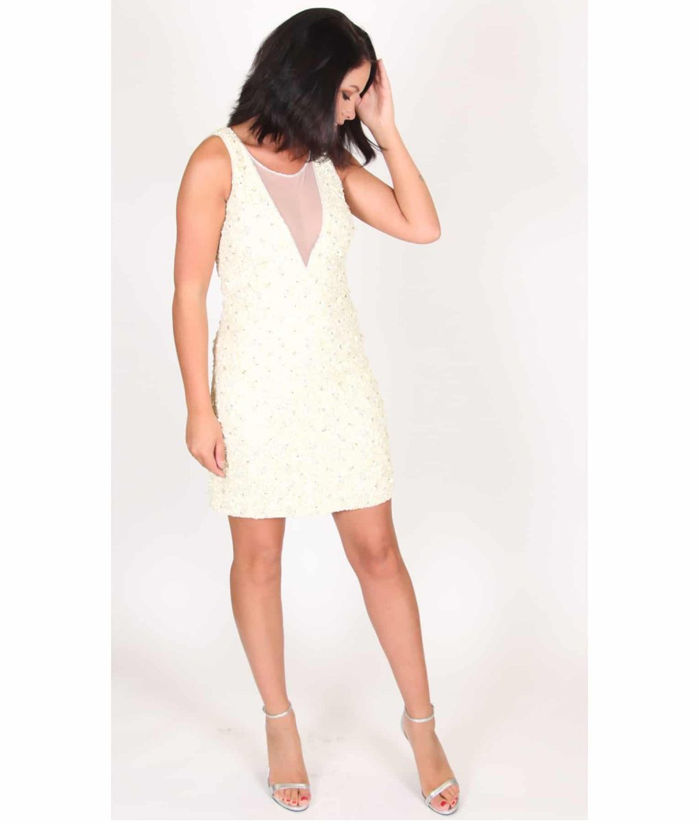 Alila Lemon Sequin Party Dress by Lace & Beads.