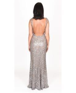 Scala Long Lead Low Back Debs dress gown