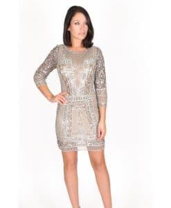 Scala Long Sleeve Embellished Dress