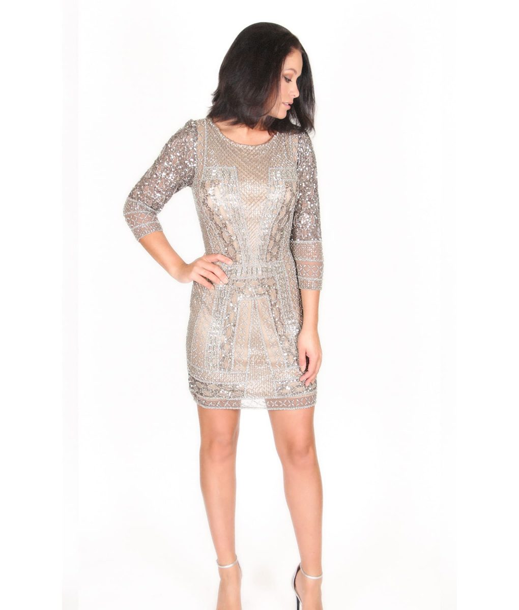Alila Boutique Silver Sequin Dress by Scala