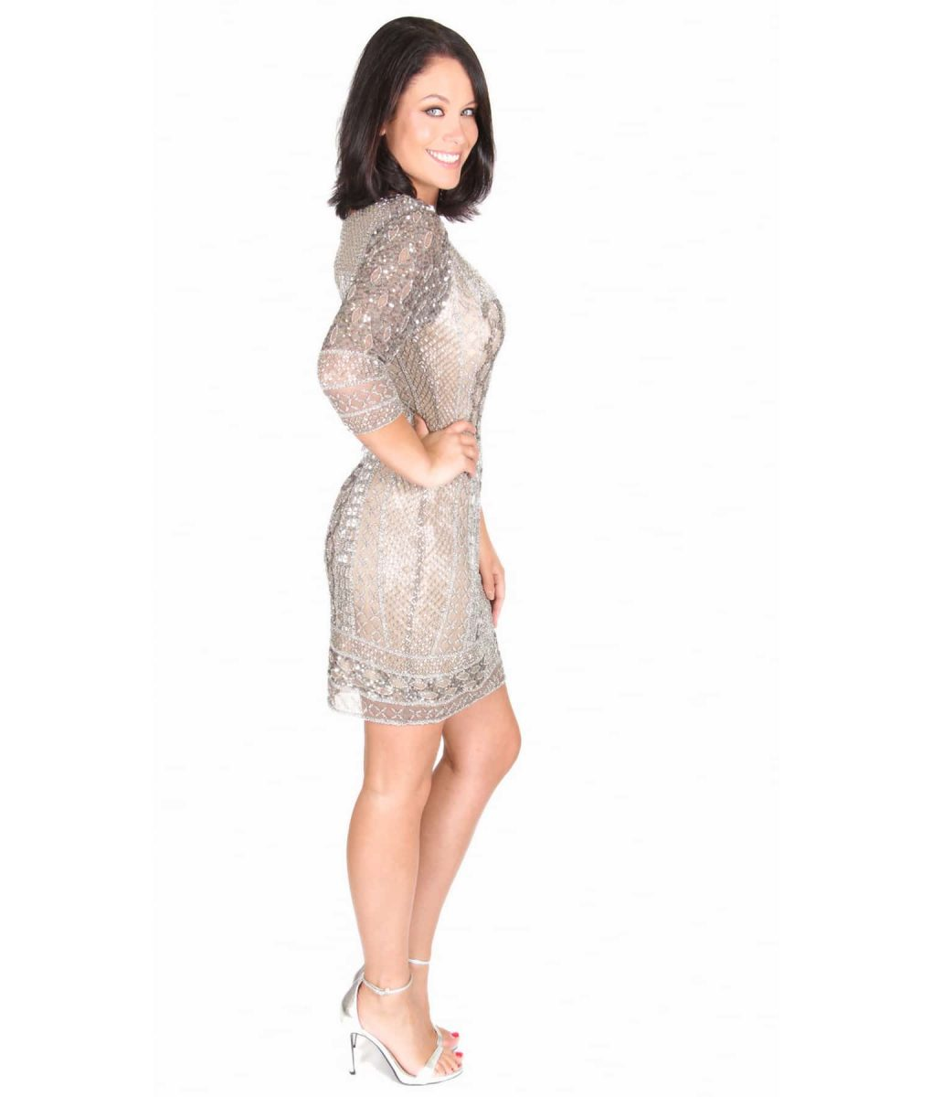Alila Boutique Silver Sequin Dress by Scala.