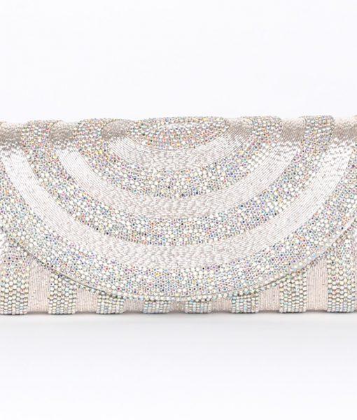Alila Silver Crystal Clutch Bag