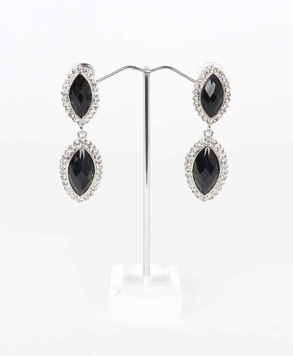 Alila Black & Crystal Drop Earrings